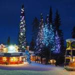 Silver Star ski resort winter lights